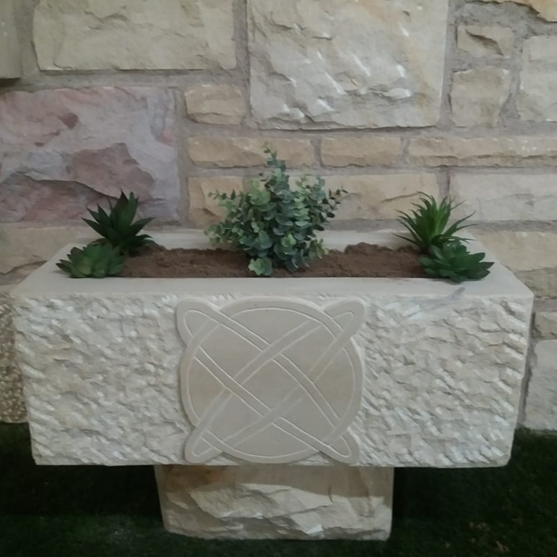 Stone Carved Celtic Design Planter