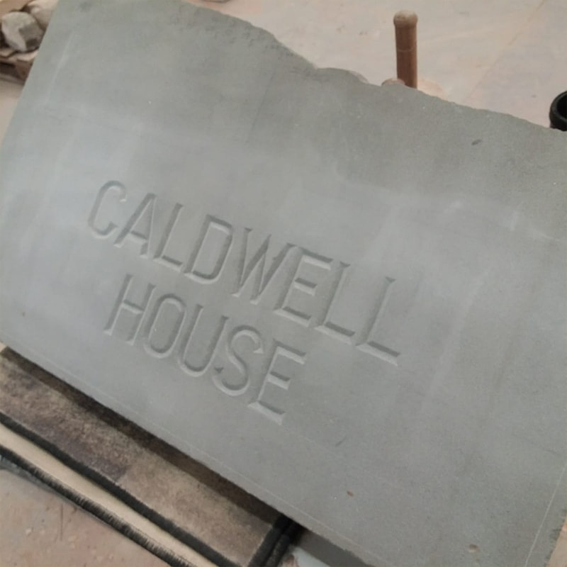 Stone Carved House name plate