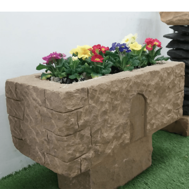 Stone Carved Old Style Cottage Planter